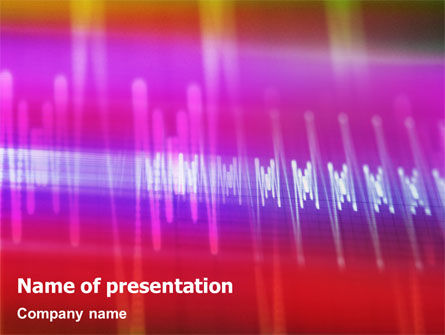 Technology and Science: Oscillogram PowerPoint Template #01885