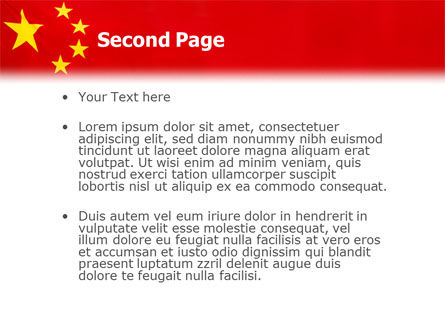 Chinese Flag PowerPoint Template Slide 2