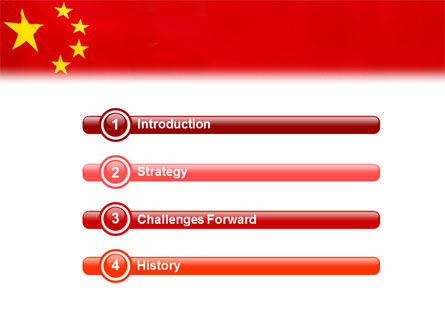 Chinese Flag PowerPoint Template Slide 3