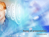 Technology and Science: Waves PowerPoint Template #01888