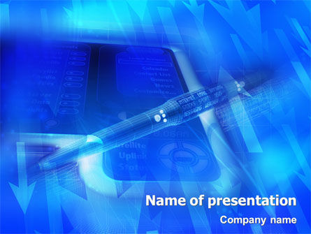 Technology and Science: High Tech Digital Pen PowerPoint Template #01890