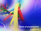 Technology and Science: DNA Double Helix PowerPoint Template #01891