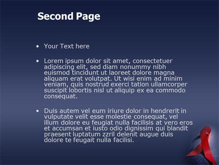 AIDS PowerPoint Template, Slide 2, 01892, Medical — PoweredTemplate.com