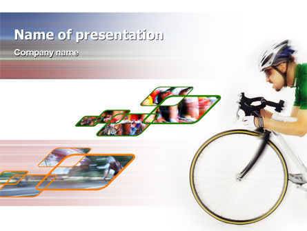 Sports: Tour de France PowerPoint Template #01895