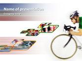 Sports: Tour de France PowerPoint Template #01895