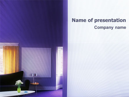 Interior In Violet PowerPoint Template