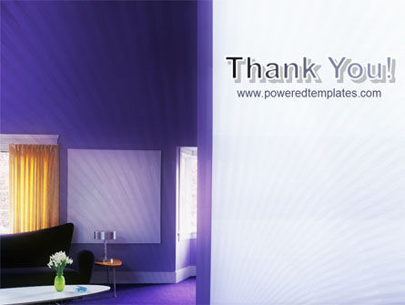 Interior In Violet PowerPoint Template Slide 20