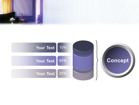Interior In Violet PowerPoint Template Slide 8