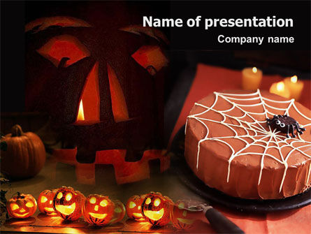 Halloween Pumpkin PowerPoint Template, 01899, Holiday/Special Occasion — PoweredTemplate.com