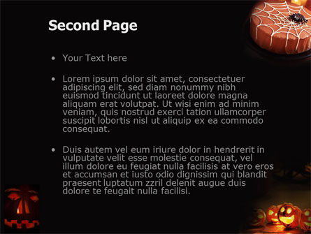 Halloween Pumpkin PowerPoint Template, Slide 2, 01899, Holiday/Special Occasion — PoweredTemplate.com