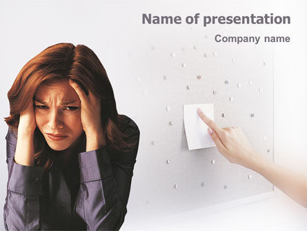 Medical: Stress PowerPoint Template #01901