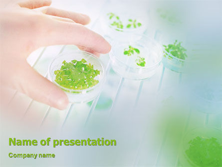 Technology and Science: Organic PowerPoint Template #01906