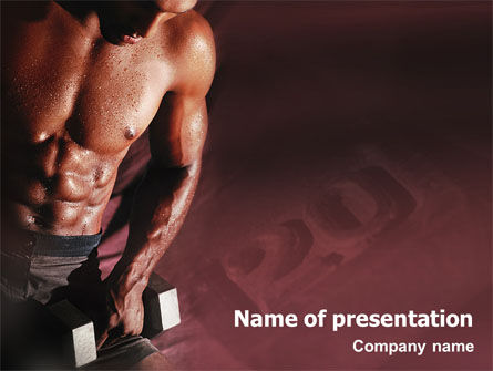 Sports: Body Building PowerPoint Template #01908