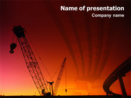 Construction: Road Building PowerPoint Template #01909