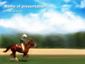 Sports: Cowboy Riding PowerPoint Template #01911