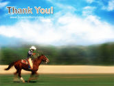 Cowboy Riding PowerPoint Template#20