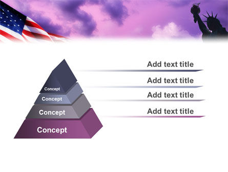 Statue of Liberty With American Flag PowerPoint Template Slide 10