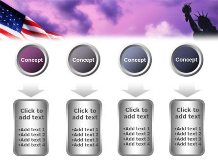 Statue of Liberty With American Flag PowerPoint Template Slide 18