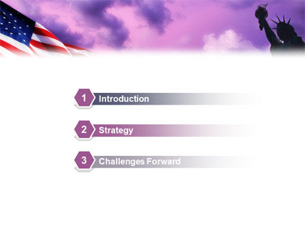 Statue of Liberty With American Flag PowerPoint Template Slide 3