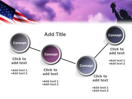 Statue of Liberty With American Flag PowerPoint Template Slide 6