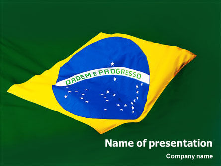 Flags/International: Brazilian Flag PowerPoint Template #01915