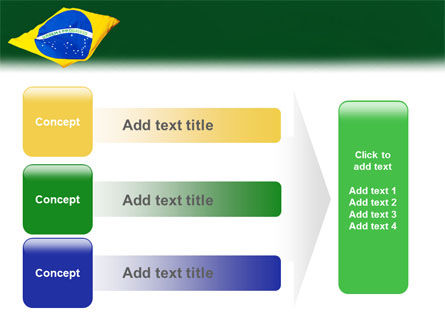 Brazilian Flag PowerPoint Template Slide 12