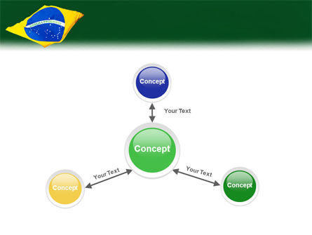Brazilian Flag PowerPoint Template Slide 14