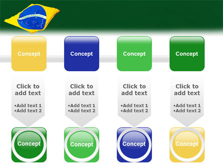 Brazilian Flag PowerPoint Template Slide 18