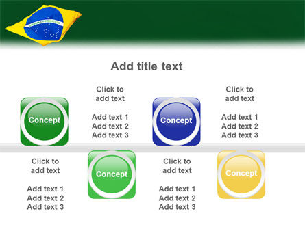 Brazilian Flag PowerPoint Template Slide 19