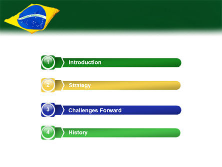 Brazilian Flag PowerPoint Template, Slide 3, 01915, Flags/International — PoweredTemplate.com