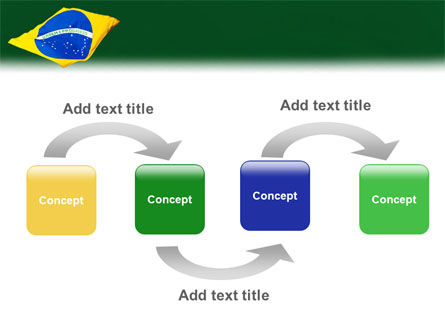 Brazilian Flag PowerPoint Template, Slide 4, 01915, Flags/International — PoweredTemplate.com
