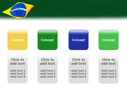 Brazilian Flag PowerPoint Template Slide 5