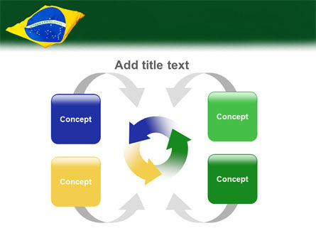 Brazilian Flag PowerPoint Template Slide 6