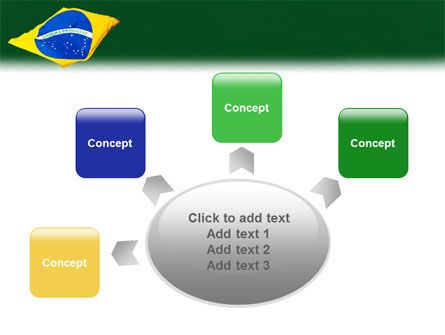 Brazilian Flag PowerPoint Template Slide 7