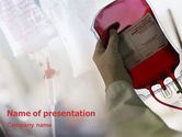 Medical: Blood Transfusion PowerPoint Template #01917
