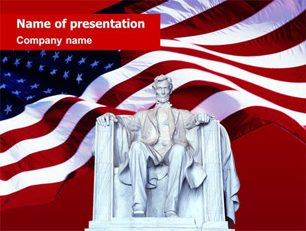 Abraham Lincoln PowerPoint Template, 01918, America — PoweredTemplate.com