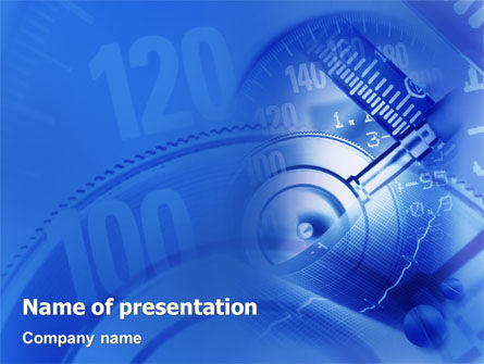 Tonometer PowerPoint Template, 01919, Medical — PoweredTemplate.com