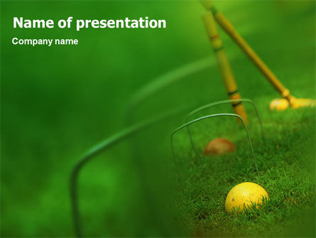 Cricket PowerPoint Template, 01920, Sports — PoweredTemplate.com