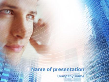 Telecommunication: 现代电讯PowerPoint模板 #01926
