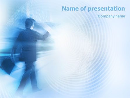 Business: Foggy Perspective PowerPoint Template #01927