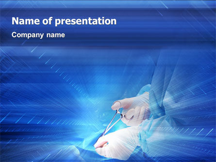 Medical: Surgical Forceps PowerPoint Template #01930