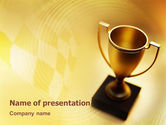 Sports: Winner Cup PowerPoint Template #01933