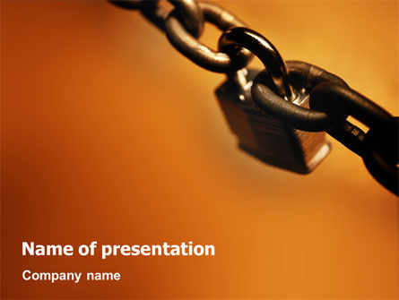 Lock This Chain PowerPoint Template, 01934, General — PoweredTemplate.com