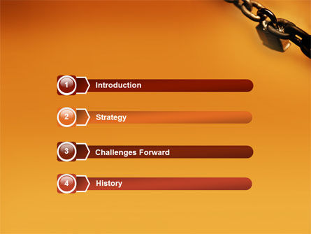 Lock This Chain PowerPoint Template, Slide 3, 01934, General — PoweredTemplate.com