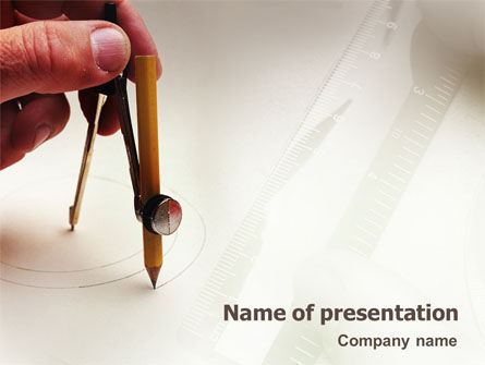 Business Concepts: Draftsman PowerPoint Template #01937