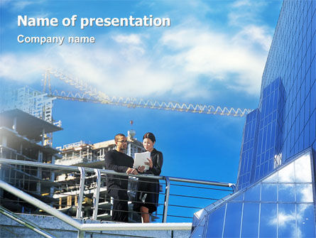 Architectures At The Building Site PowerPoint Template, 01938, Business — PoweredTemplate.com