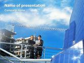 Business: Architectures Op De Bouwplaats PowerPoint Template #01938