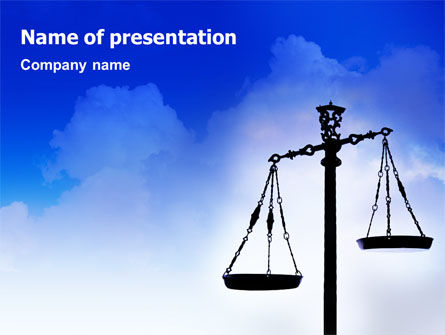 Business Concepts: Symbol of Justice PowerPoint Template #01941