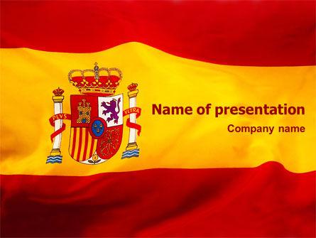 Templat Powerpoint Bendera Spanyol Gambar Latar  Poweredtemplate Com