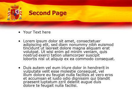 Spanish Flag PowerPoint Template, Slide 2, 01942, Flags/International — PoweredTemplate.com